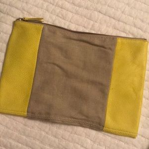 Leather and canvas Gap clutch